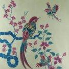 Original Batik Art Painting on Cotton, 'Oriental Birds' by Anfei (75cm x 90cm)