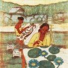 Original Batik Art Painting on Cotton, 'Batik Making' by Dzakaria (45cm x 75cm)