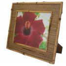 "Hand-crafted Natural Bamboo Mendong Picture Frame Two-ways (8""×10"" or 10""x8"") With Stand"