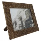 "Hand-crafted Natural Weave Picture Frame Two-ways (6""×8"" or 8""x6"")  With Stand"