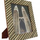 "Hand-crafted Natural Cocostick Zebra Picture Frame Two-ways (8""×10"" or 10""x8"") With Stand"