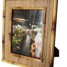 "Hand-crafted Natural Bamboo Mendong Picture Frame Two-ways (6""×8"" or 8""x6"") With Stand"