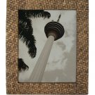 "Hand-crafted Natural Woven Bamboo Picture Frame Two-ways (8""x10"" or 10""x8"") Without Stand"