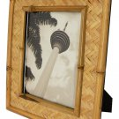 "Hand-crafted Natural Bamboo Picture Frame Two-ways (6""x8"" or 8""x6"") with Stand"