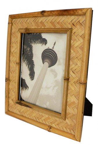 """Hand-crafted Natural Bamboo Picture Frame Two-ways (6""""x8"""" or 8""""x6"""") with Stand"""