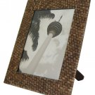 "Hand-crafted Natural Woven Bamboo Picture Frame Two-ways (6""x8"" or 8""x6"") with Stand"