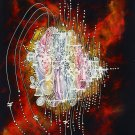 Original Batik Art Painting on Cotton Fabric, 'Abstract' Special Edition By Alim (75cm X 90cm)