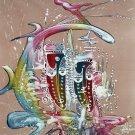 Original Batik Art Painting on Cotton Fabric, 'Mask' Special Edition By Alim (75cm X 90cm)