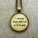 Harry Potter Inspired I Solemnly Swear That I Am Up To No Good Pendant Necklace