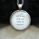 One Direction Inspired Lyrical Quote Necklace One Thing (Silver, 18 inches, 1D)