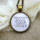 Florence and the Machine You've Got The Love Inspired Lyrical Quote Necklace (Brass, 18 inches)