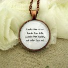 Florence and the Machine Inspired Lyrical Quote Necklace Louder Than Sirens (Copper)