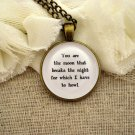 Florence and the Machine Inspired Lyrical Quote Necklace You Are The Moon (Brass)