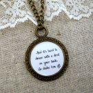 Florence and the Machine Shake it Out Inspired Lyrical Quote Necklace (Brass, 18 inches))