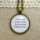 Mumford and Sons Inspired Lyrical Quote Necklace I Will Wait (Brass, 18 inches)