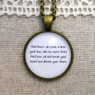 Mumford and Sons Inspired Lyrical Quote Pendant Necklace After The Storm (Brass)