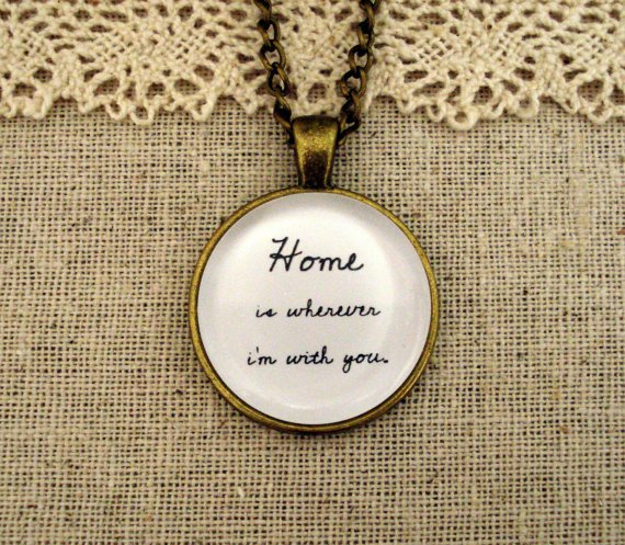 Edward Sharpe & the Magnetic Zeros Home Inspired Lyrical Quote Necklace (Brass, 18 inches)