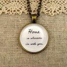 Edward Sharpe & the Magnetic Zeros Inspired Lyrical Quote Necklace Home (Brass)