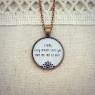 Empire of The Sun Alive Inspired Lyrical Quote Necklace (Copper, 18 inches)
