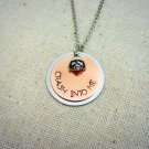 Dave Matthews Band Crash Into Me Inspired Hand Stamped Necklace (Silver, 18 inches)