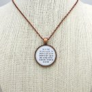 Mumford and Sons Dust Bowl Dance Inspired Lyrical Quote Necklace (Copper, 18 inches)
