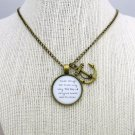 Of Monsters And Men Little Talks Inspired Lyrical Quote Necklace(Brass, 18 inches)