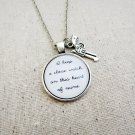 Johnny Cash I Walk The Line Inspired Lyrical Quote Necklace (Silver, 18 inches, Gun Charm)