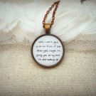 Jason Mraz I Won't Give Up Inspired Lyrical Quote Necklace (Copper, 18 inches)
