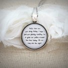 Dave Matthews Band Granny Inspired Lyrical Quote Necklace (Silver, 18 inches)