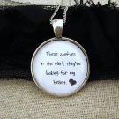 Young The Giant Cough Syrup Inspired Lyrical Quote Necklace Zombies in The Park (Silver, 18 in)