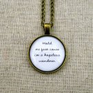 Mumford and Sons Hopeless Wanderer Inspired Lyrical Quote Necklace (Brass, 18 inches)