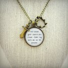 Passion Pit Moth's Wings Inspired Lyrical Quote Pendant Necklace (Sword, Crown Charm)