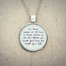 Mumford and Sons Awake My Soul Bodies Inspired Lyrical Quote Pendant Necklace