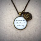 The Avett Brothers Salvation Song Inspired Lyrical Quote Necklace with World Charm
