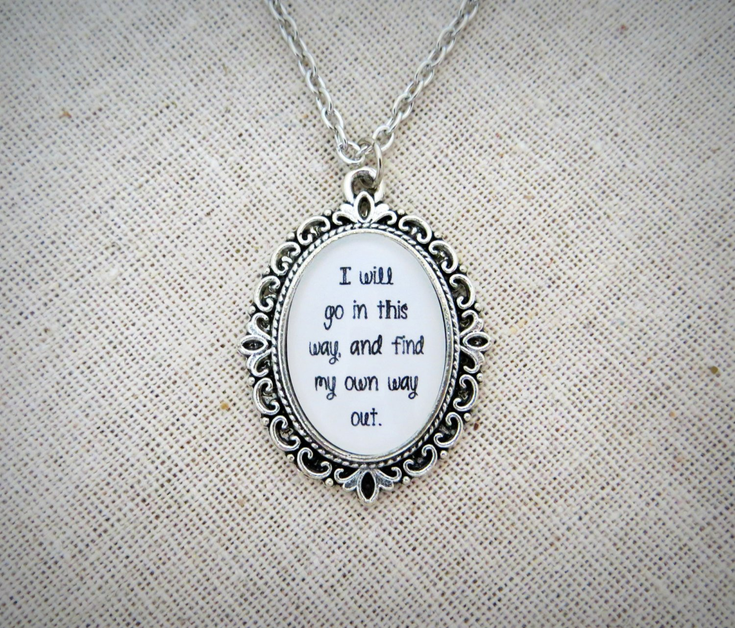 Dave Matthews Band #41 Inspired Lyrical Quote Pendant Necklace (Number 41)