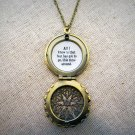 Hanson This Time Around Inspired Lyrical Quote Locket Necklace (Brass, 18 inches)
