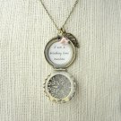 The Avett Brothers Laundry Room Inspired Lyrical Quote Locket Leaf & Flower Charm