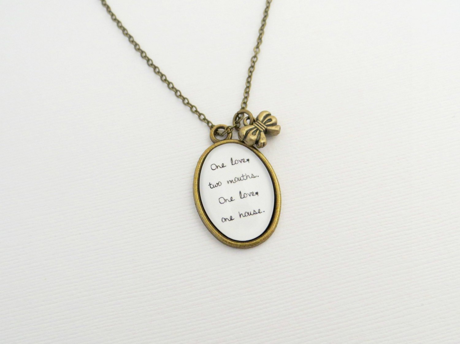The Neighbourhood Sweater Weather Inspired Lyrical Quote Pendant Necklace