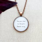 Ben Howard Keep Your Head Up Inspired Lyrical Quote Pendant Necklace (Copper, 18 inches)