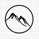 Mountain Digital File Download (svg, dxf, png, jpeg)