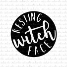Resting Witch Face Digital File Download (svg, dxf, png, jpeg)
