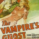 The Vampire's Ghost DVD (1945) John Abbot, Rare Horror
