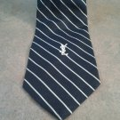 Vinatge Yves Saint Laurent Tie Blue/White Stripe