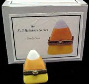 Candy Corn Porcelain Hinged Box Midwest NEW