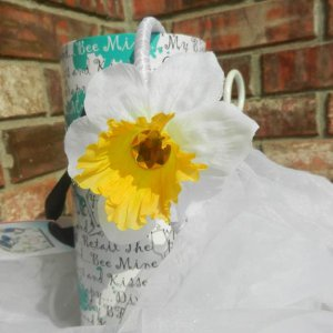 Daffodil White Yellow Fascinator Headband