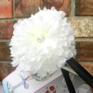 White Carnation Hair Clip