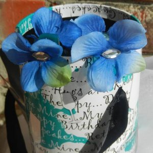 Blue Flower Claw Clips
