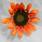 Orange Sunflower Silk Flower Bloom Diy Supplies
