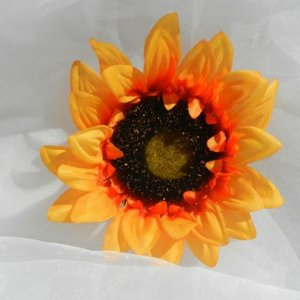 Orange Yellow Sunflower Silk Flower Diy Supplies