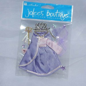Ek Success Jolee's Princess 3d Sticker Black Paper Craft supplies